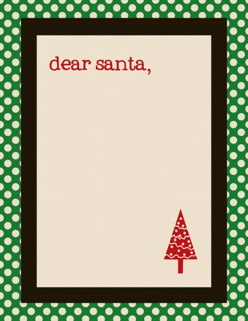 Free Santa Letter Templates  Letter Templates Red Green And