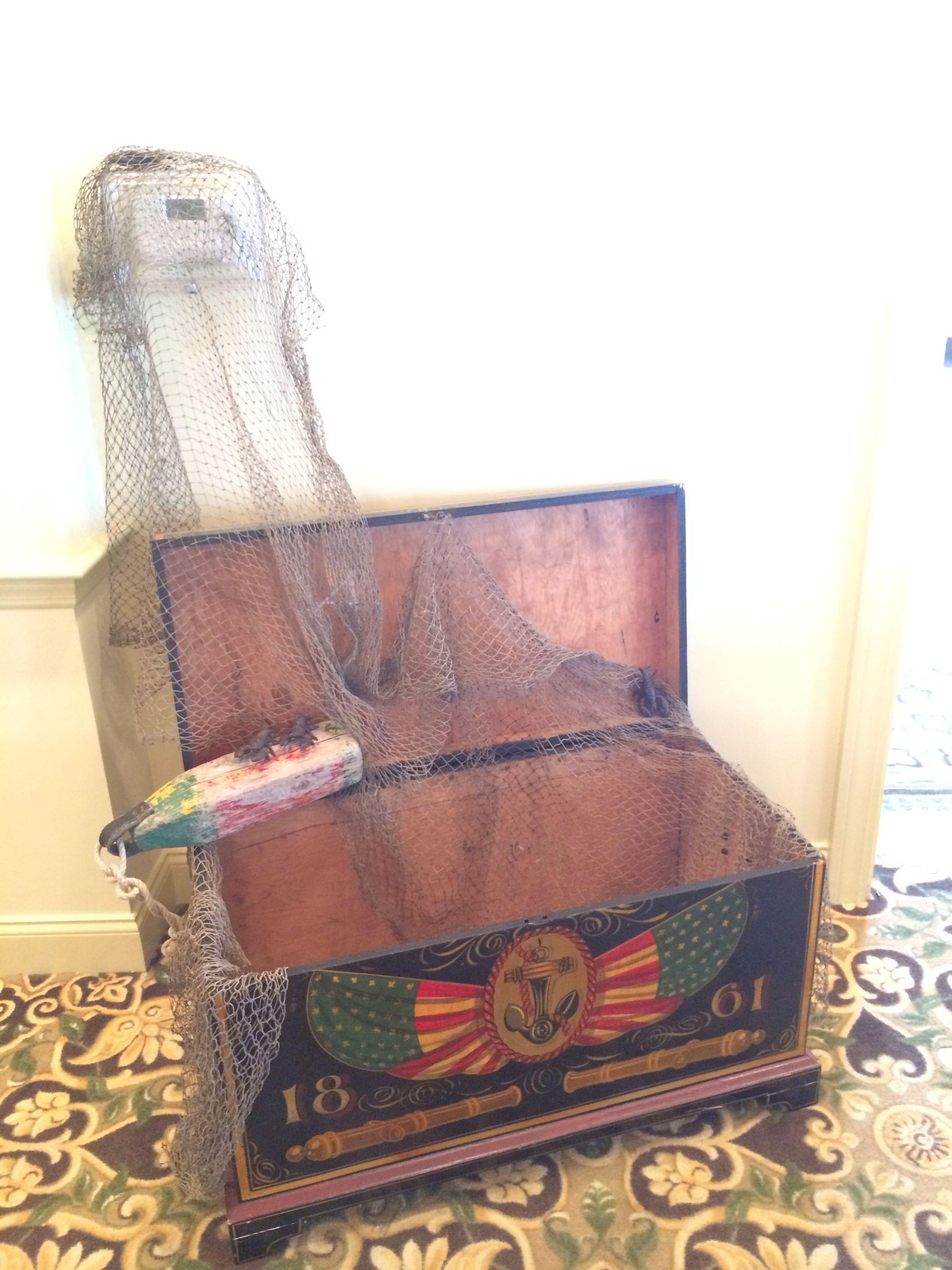 Vintage nautical trunk, wedding presents