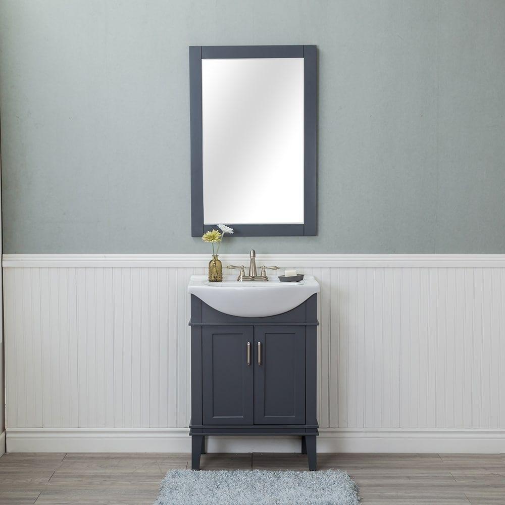 Alya bath lancaster grey ceramic wood and chrome inch center