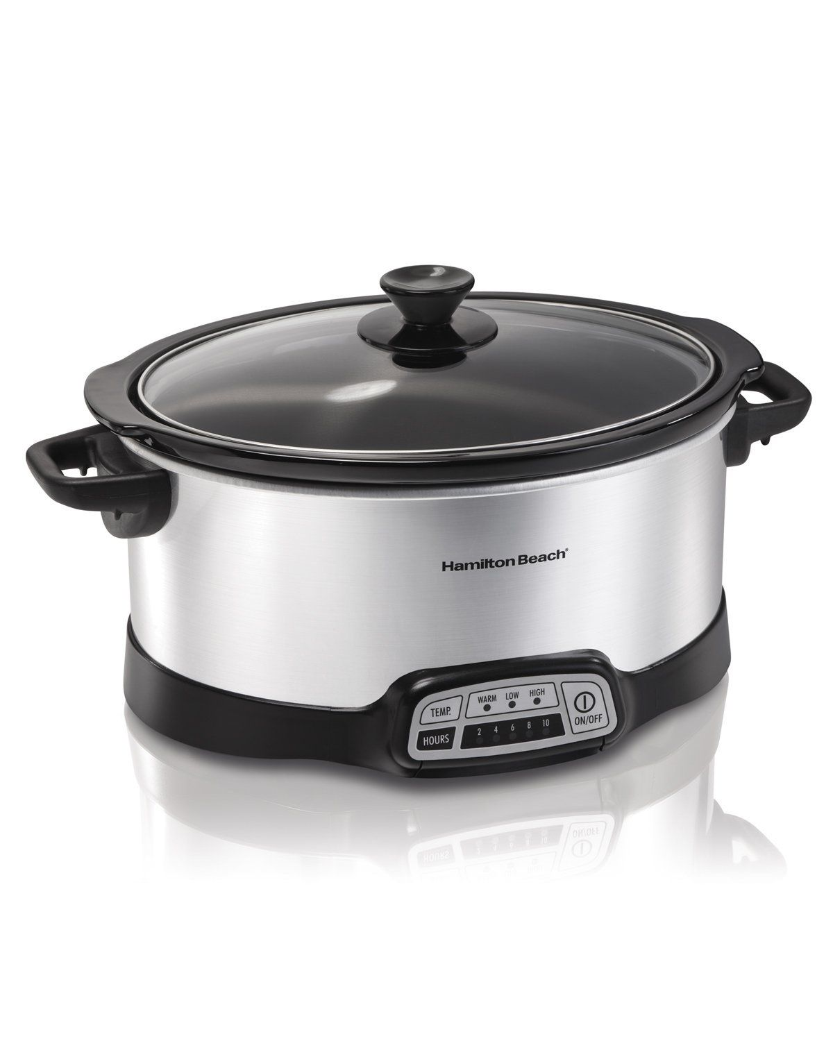 Amazon.com: Hamilton Beach 33473 Programmable Slow Cooker, 7-Quart, Silver…