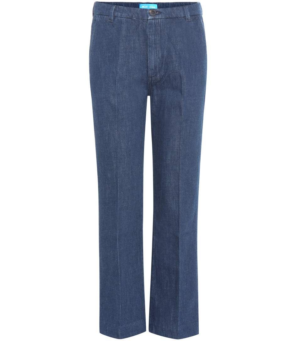 Cropped jeans with appliqué Mih Jeans QD0Icn