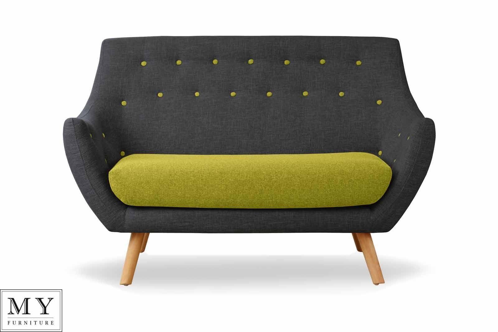 Finn Juhl Style Poet Sofa Retro 2 Two Seater Sofa Solid Oak Legs Retro Sofa Seater Sofa Sofa