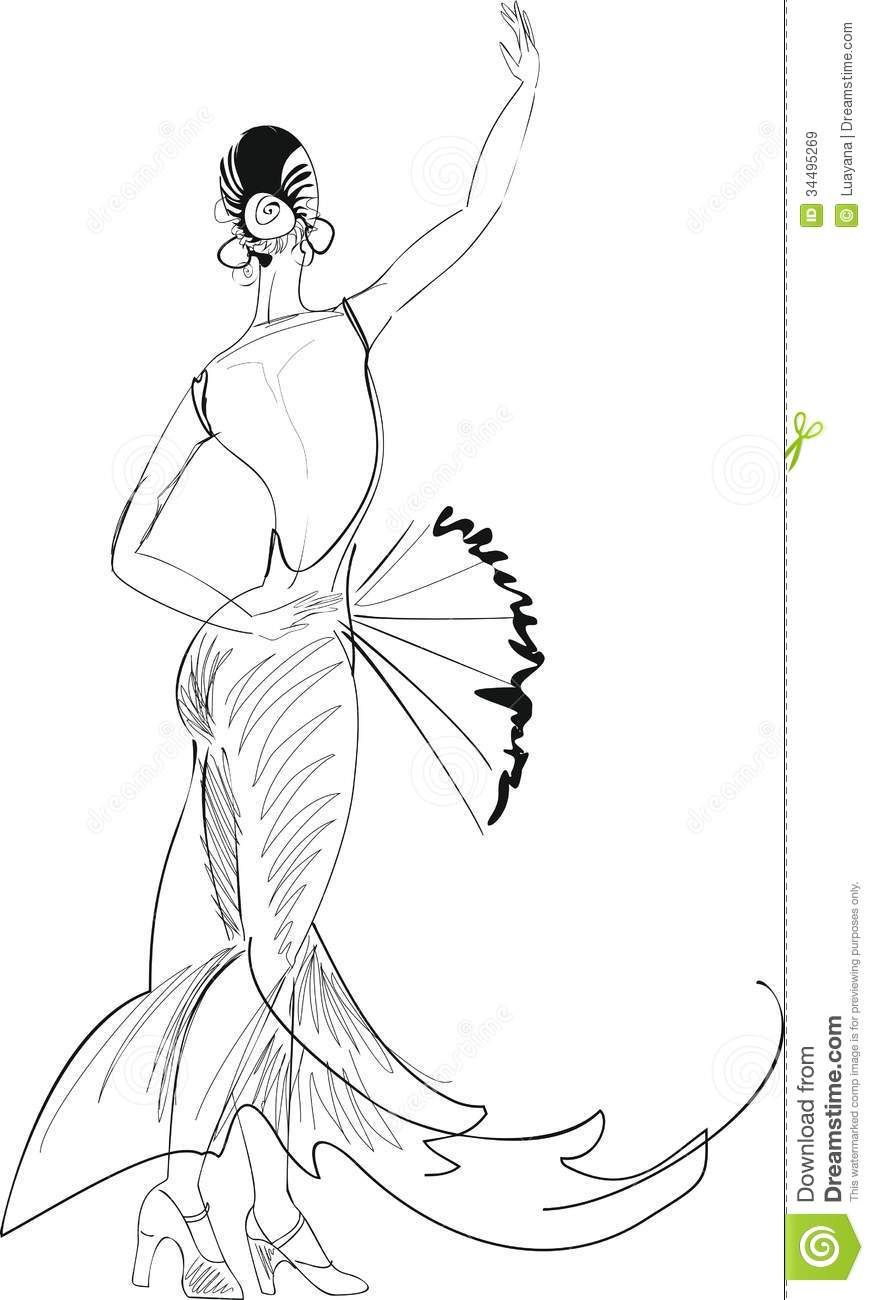 Free I Love Belly Dancer Coloring Pages Coloring Pages Flamenco