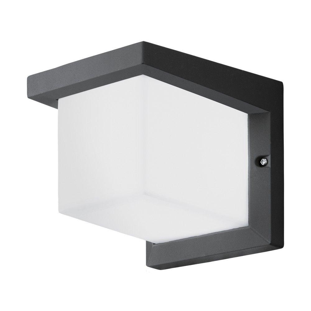 Geweldig Mooie Eglo 95097 DESELLA 1 Wandlamp Antraciet 10W/LED  #AluminiummetKunststof #Antraciet #