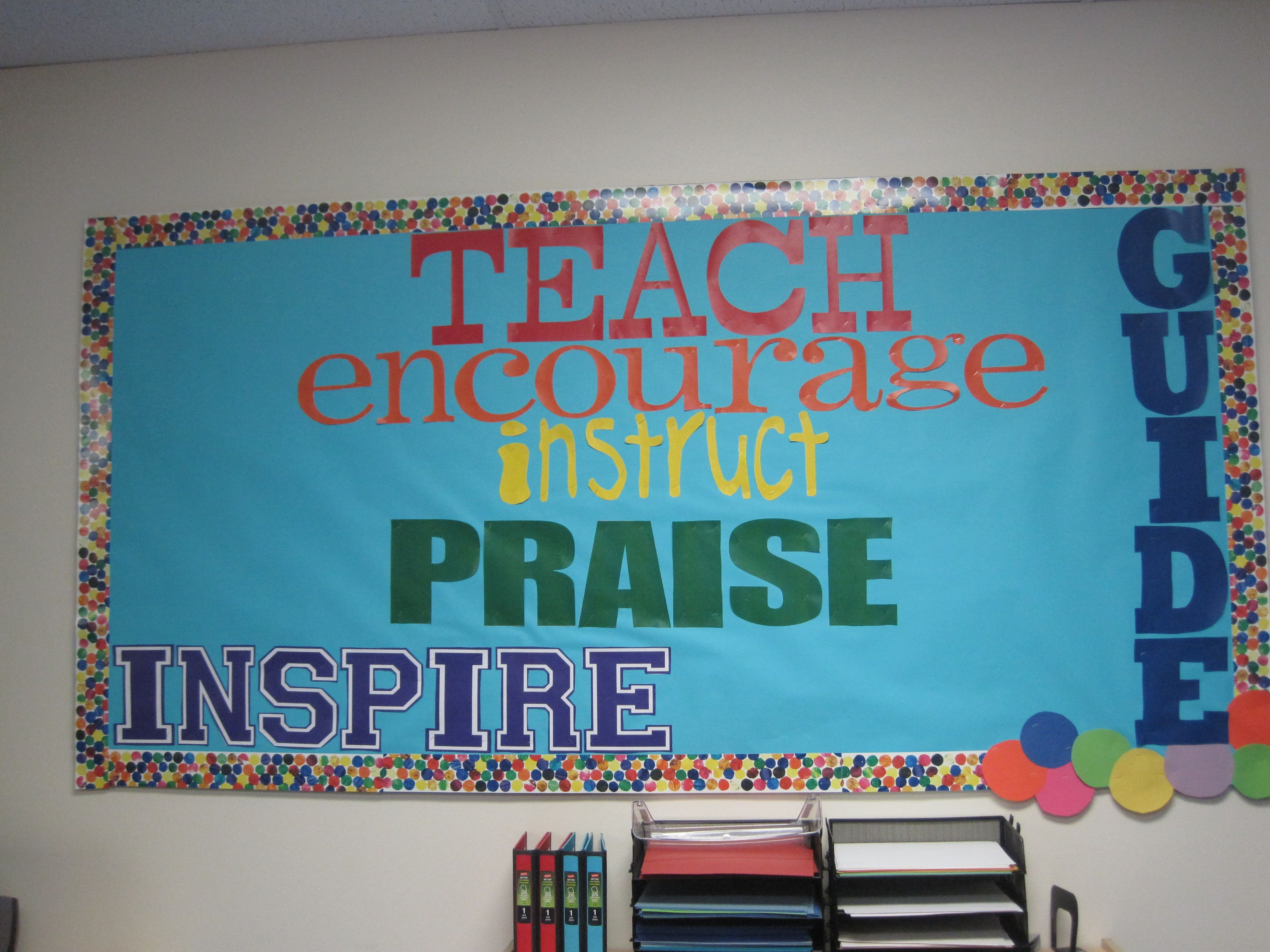 Uplifting Ideas: Teacher Workroom Inspirational Bulletin Board