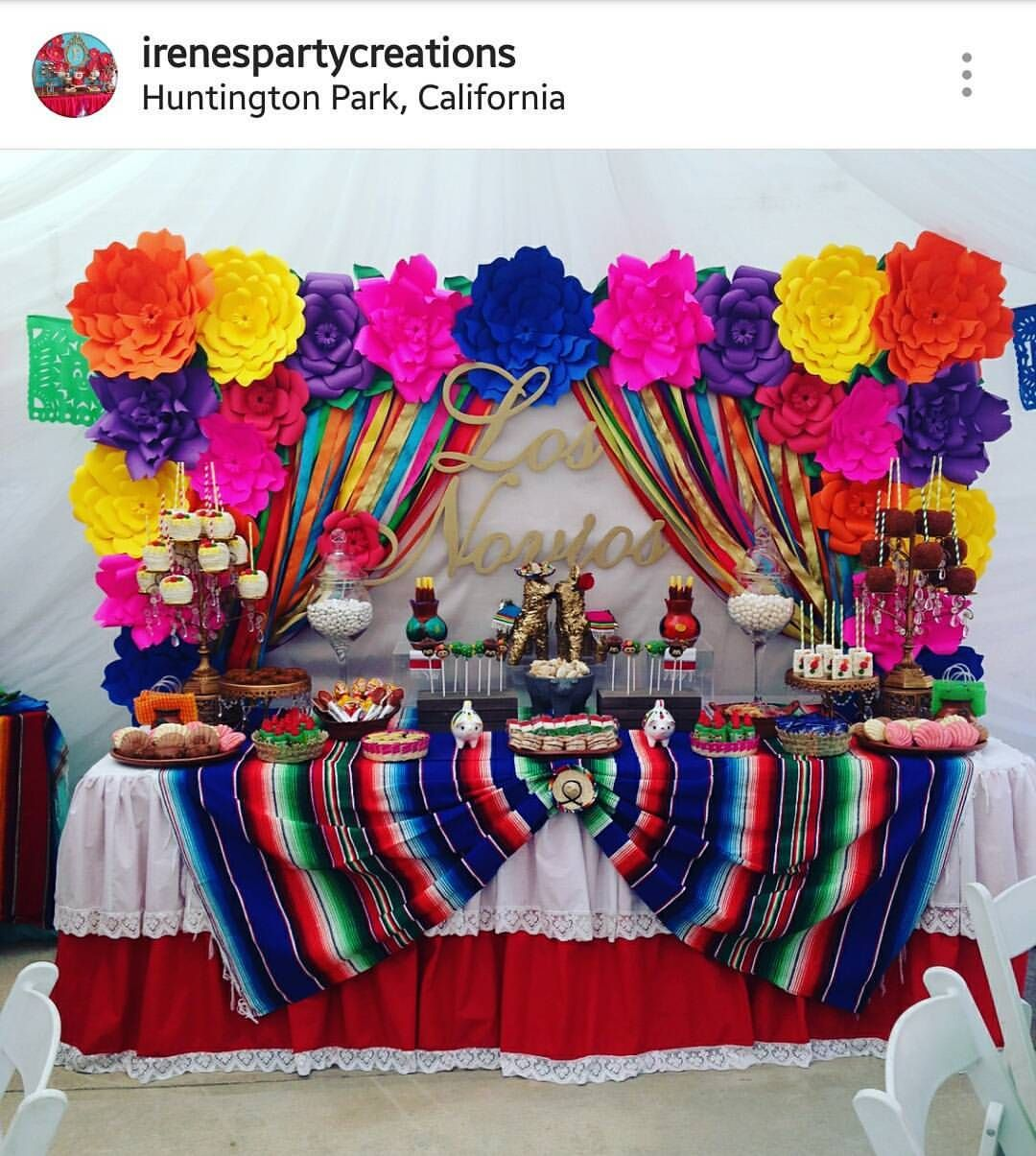 Pin By Yolanda J On Sweet Table In 2019 Mexican Birthday Parties