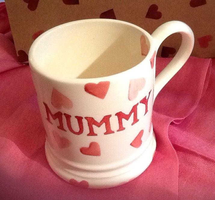 Emma Bridgewater Pink Hearts MUMMY 0.5 Pint Mug 2014