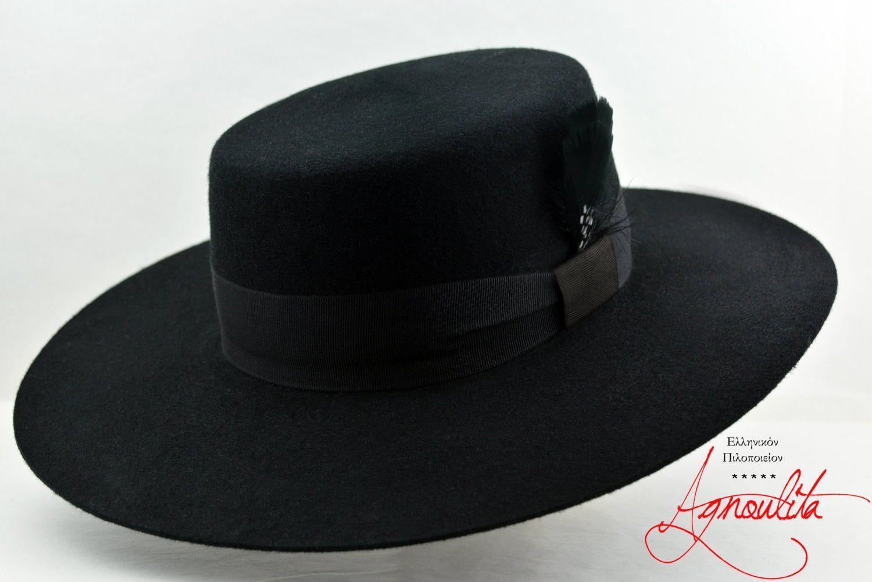 Bolero Hat The Dress Black Wool Felt Flat Crown Wide Brim Etsy In 2021 Bolero Hat Bolero Dress Wide Brim Hat Men