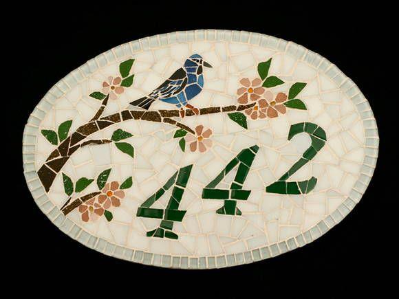 Numero Em Mosaico By Cintia Cimbaluk Mosaics Numbers