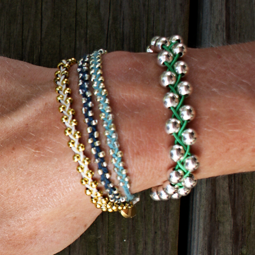 Braided Bracelets With Beads Make A Braided Bead Bracelet Beaded Bracelets Beaded Bracelets Diy Diy Bracelets