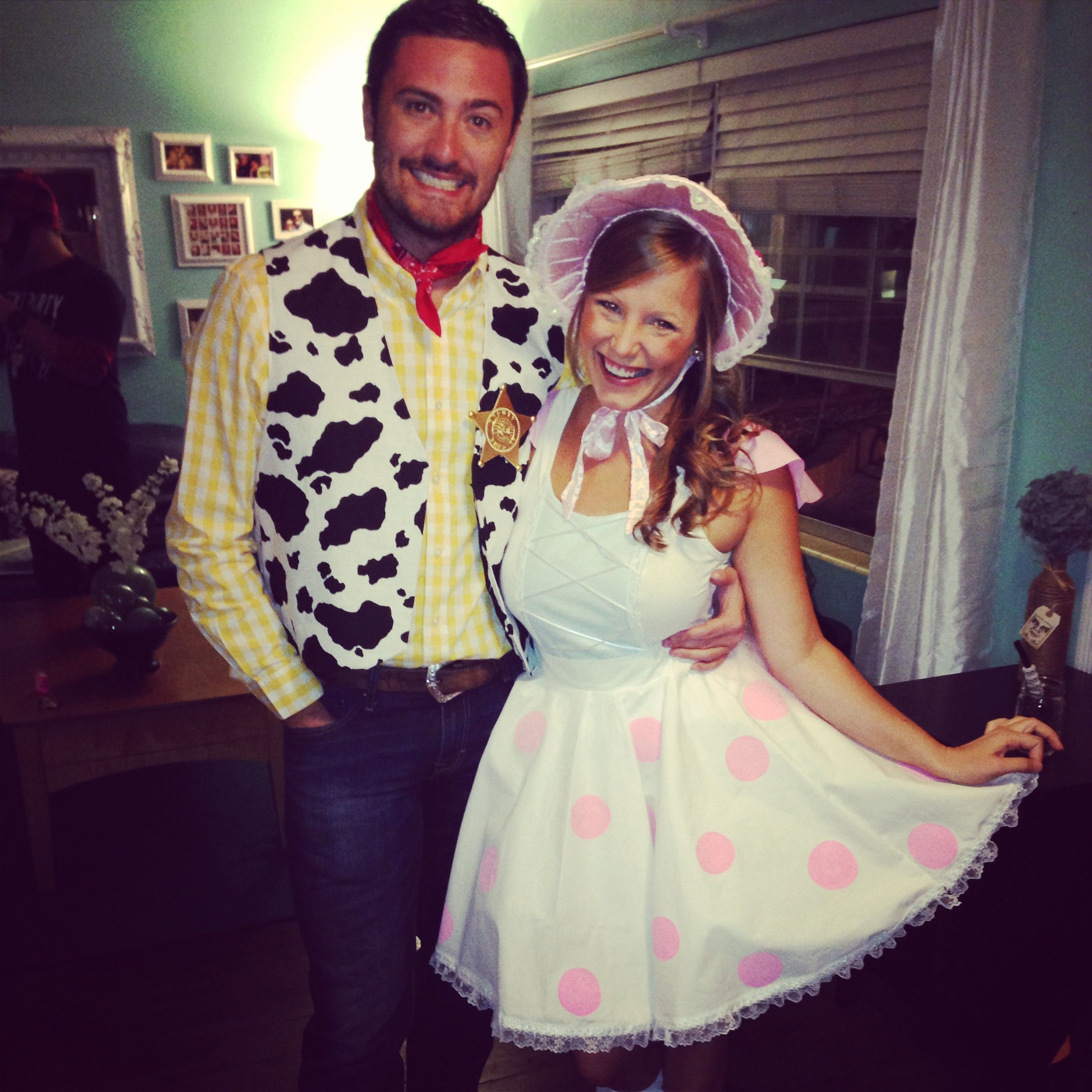 Couples costume for Halloween! Woody and Little Bo Peep from Toy ...