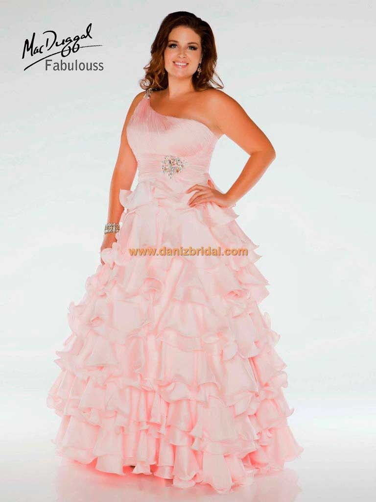 2cc40741530 Mac Duggal 48000F  448. Mac Duggal 48000F  448 Pink Formal Dresses ...