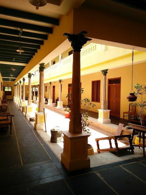 Traditional Open Courtyard In The Middle Of The