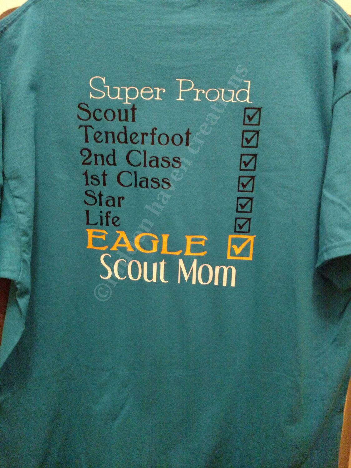 cb4a2725 Eagle Boy Scout Mom T-Shirt XL Tenderfoot, Second Class, First Class, Star,  Life, Eagle by HiddenHavenCreations on Etsy