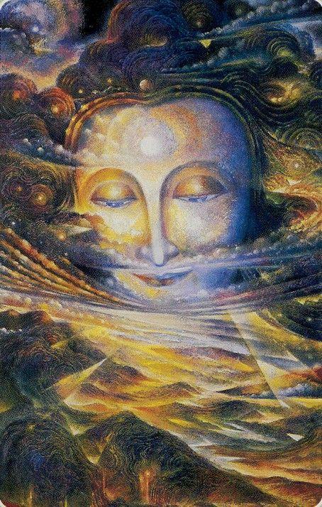 The Sun - Roots of Asia Tarot - If you love Tarot, visit me at www.WhiteRabbitTarot.com