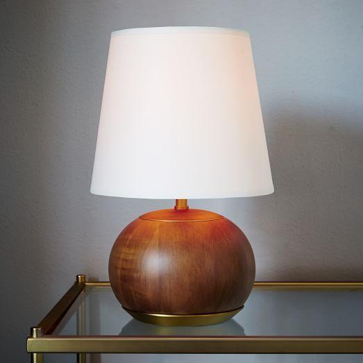 West Elm Rejuvenation Mid Century Wood Table Lamp Small West