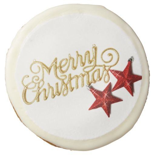Star Merry Christmas Sugar Cookie