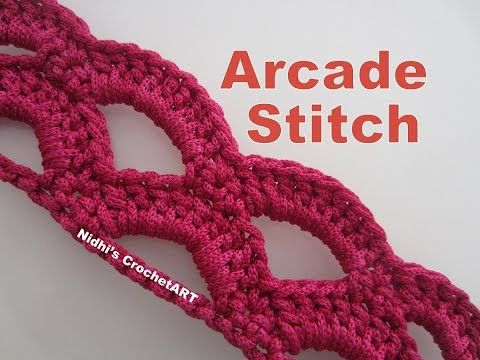 YouTube #crochet #arcade #stitch #pattern #tutorial for beginners #crochetstitchestutorial