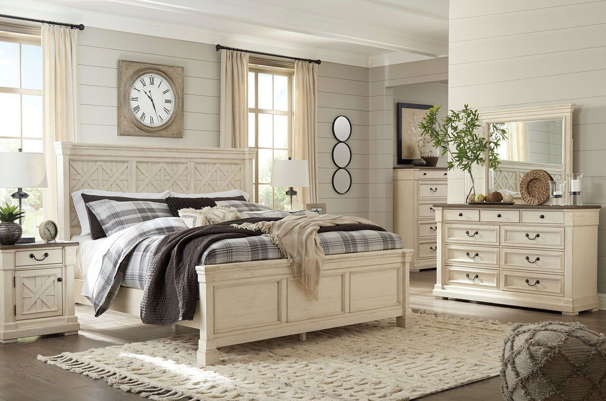 Best Bolanburg Two Tone Dresser Mirror Bedroom 400 x 300