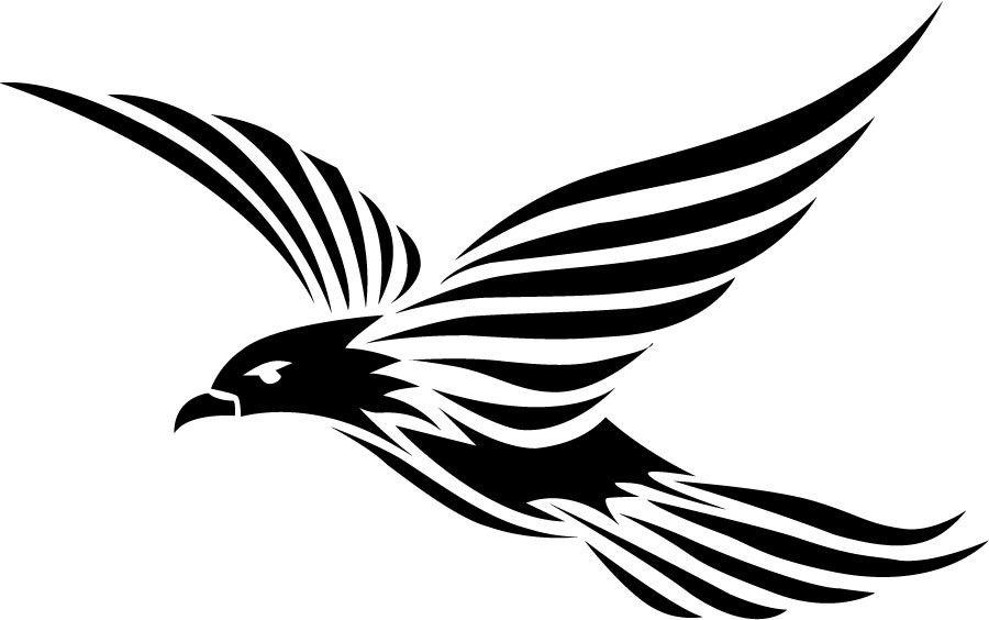 Black Flying Tribal Raven Bird Tattoo Design Tribal Bird Tattoos Bird Silhouette Bird Rubber Stamps
