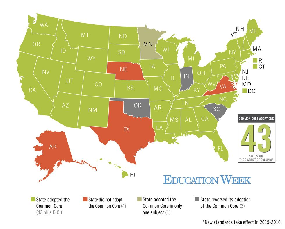 Map Tracking The Common Core State Standards Common Core State