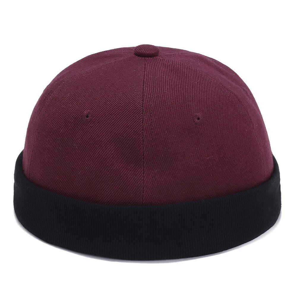 93dd17dc8c Mens Womens Couple Adjustable Solid French Cotton Bucket Cap Retro ...