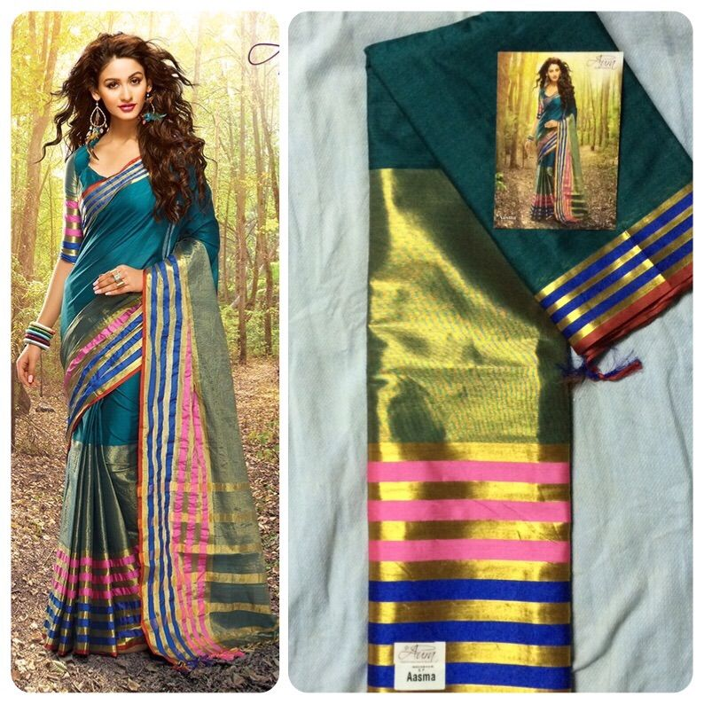 """""""Weekend saree sale"""" Pls call/whatsapp +919600639563. Code: ddc tealblu Price: 2799/- Material: Soft cotton. For booking and further details pls call or whatsapp us at +919600639563. Happy shopping y'all :) Be Beautiful :)"""