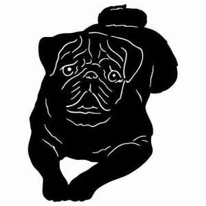 Pug Silhouette Pug Silhouette Clip Art Black Pug Puppies Dog Blanket Black Pug