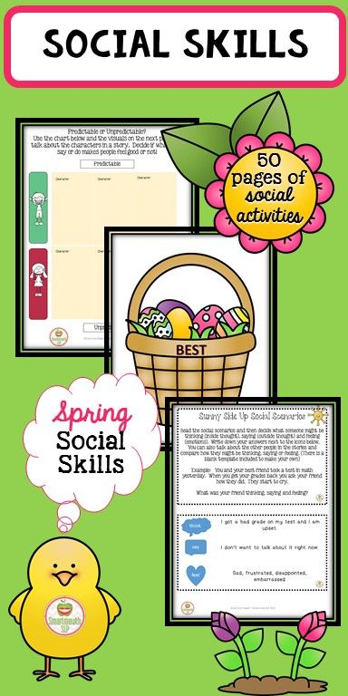 This Basket Full Of Spring Social Skills Activities Will Take Your Speech Therapy Social Skills Gr Social Skills Activities Social Skills Groups Social Skills