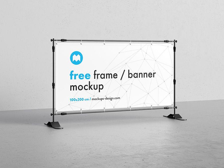 Free banner frame / stand mockup / 100 x 200cm | Stands / Exhibtion ...