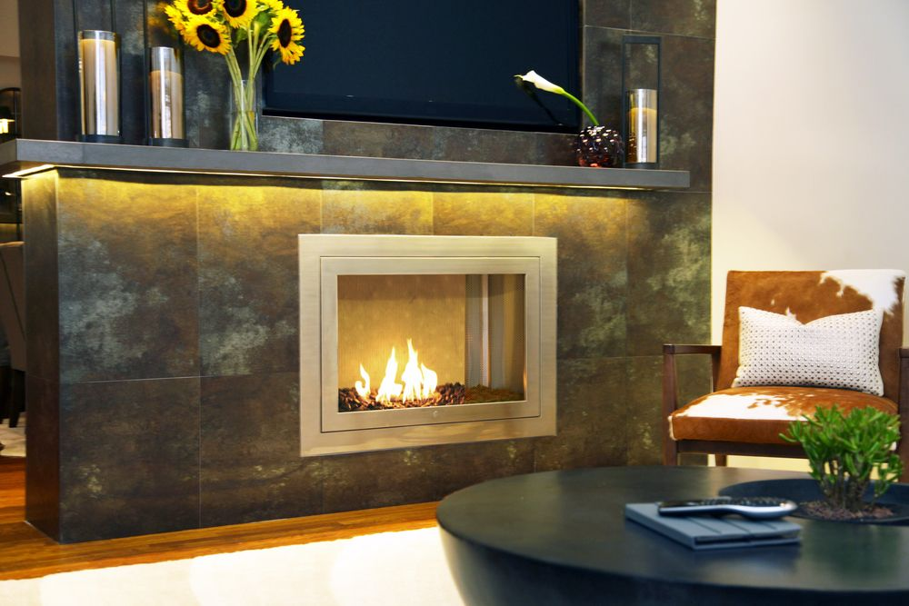 Ventless Clean Fuel Fireplace. Hearth Cabinets. Made In US.