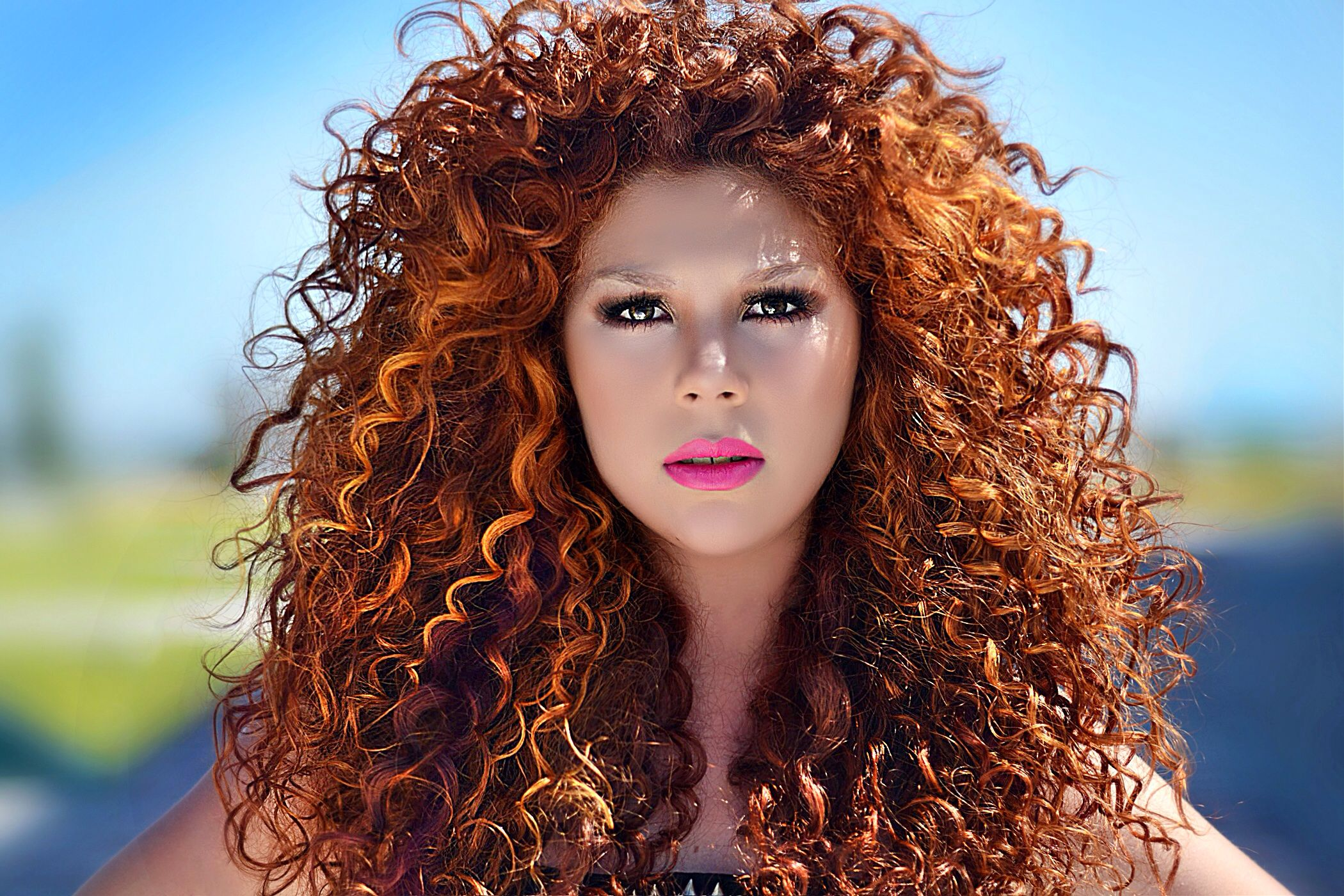 Red Copper Haircolor Hair Curly By Pacojimenez Black Curly Hair