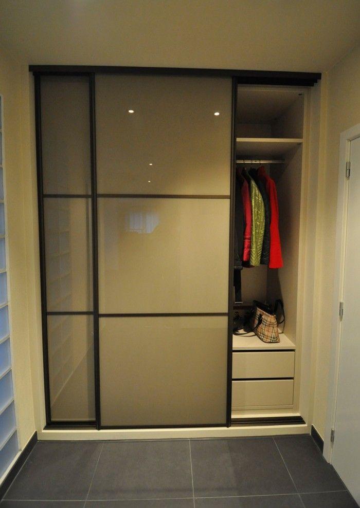 Armoires de hall et vestiaire sur mesure u203a Armoires, Mobilier - porte coulissante sur mesure prix