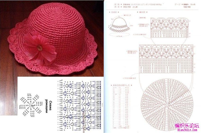 Chapéus de crochê … | Pinteres…