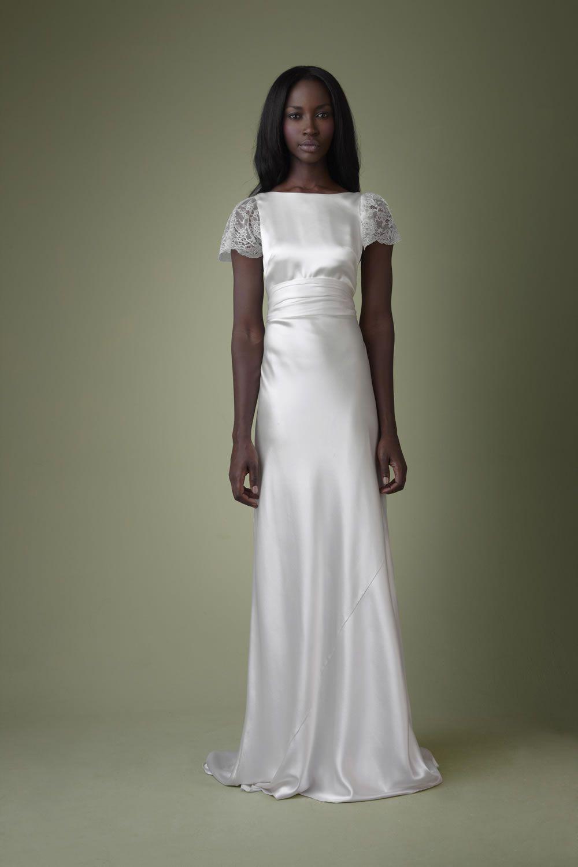 1960s vintage wedding dress with short sleeves Dresses