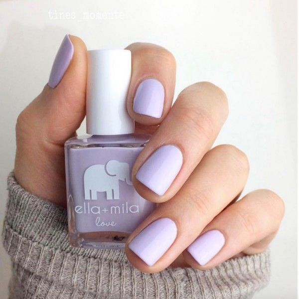 Our new favorite non-toxic nail polish. The perfect pastel purple from Ella + Mila … – Our new non-toxic favorite nail polish. The perfect pa …