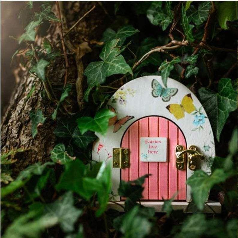 Fairy Party Wooden Door Centerpiece