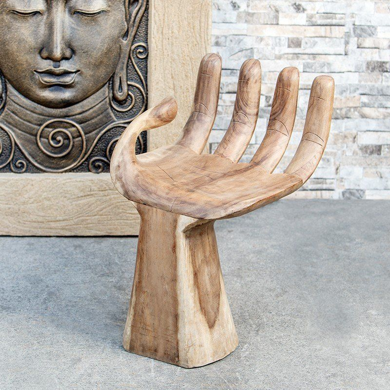 Buddha chair hand shaped suar wood wooden toys plans