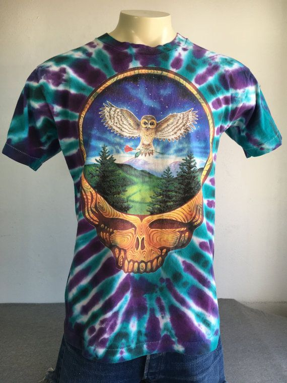 c4c12acd2d03 GRATEFUL DEAD Shirt 1994 Rare! Vintage  Eugene Oregon 3 Shows Tie Dye Summer  Tshirt  Steal Your Face
