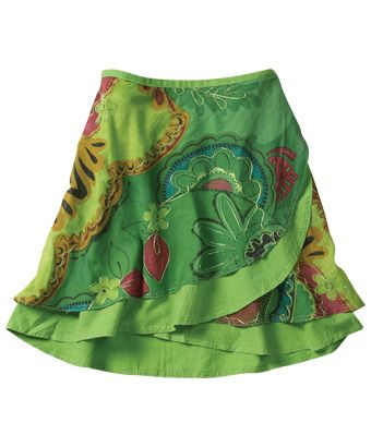 Eye-popping wraparound skirt in great colours with fab embroidery! A gorgeous skirt for the individual looking for something a little bit different.