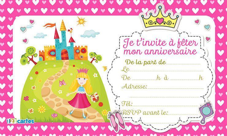 Fille Gratuite A Imprimer 9 Ans Carte Invitation Anniversaire
