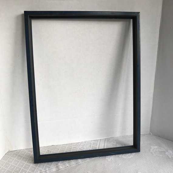 Cij Salevintage Wood Picture Frame Set Of Two Dark Blue Hardwood 12 X 16 Inch Frames Picture On Wood Picture Frame Sets Vintage Wood