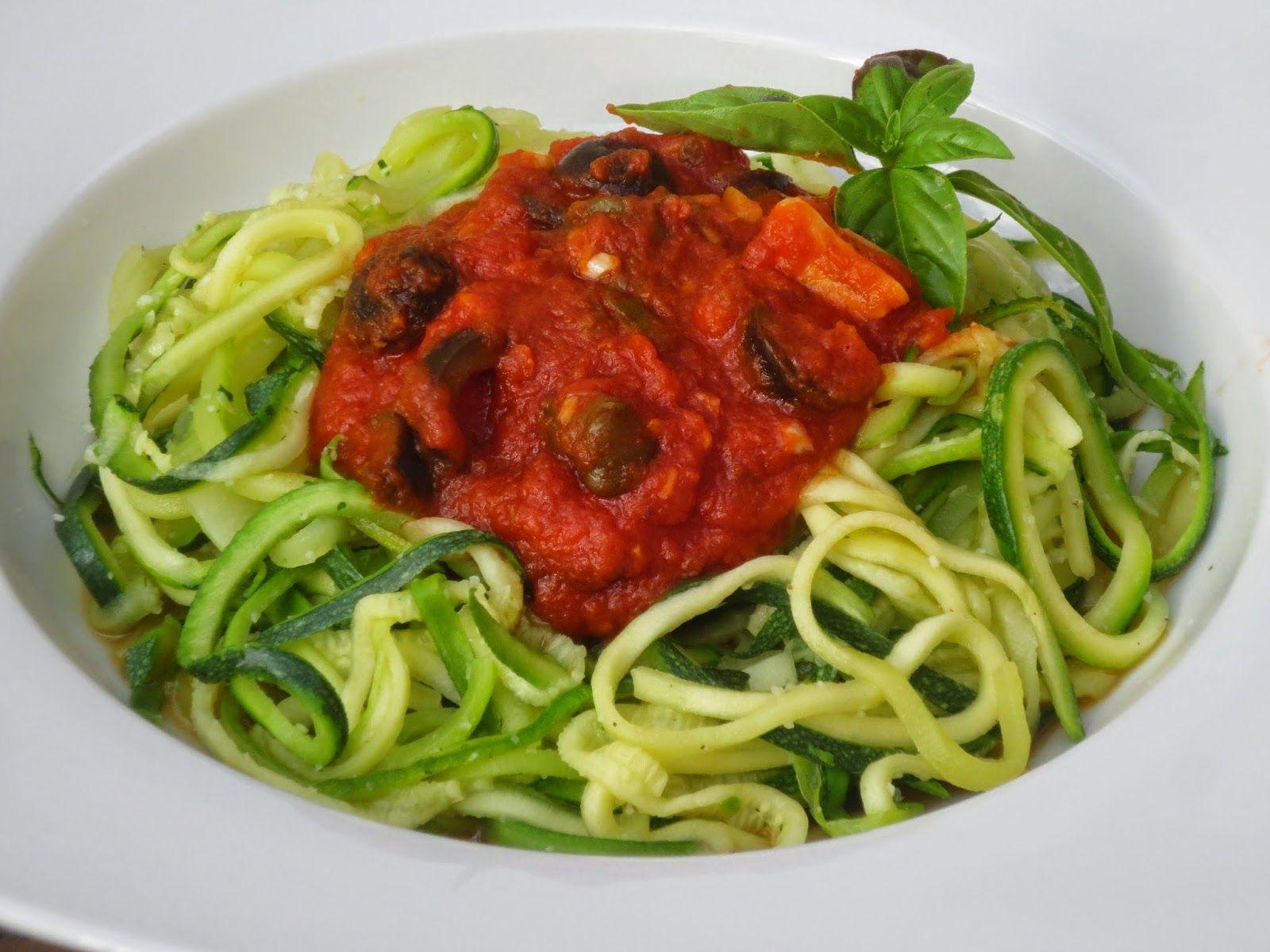 Espaguetis de calabac n a la putanesca ana sevilla con for Cocina saludable en 30 minutos thermomix