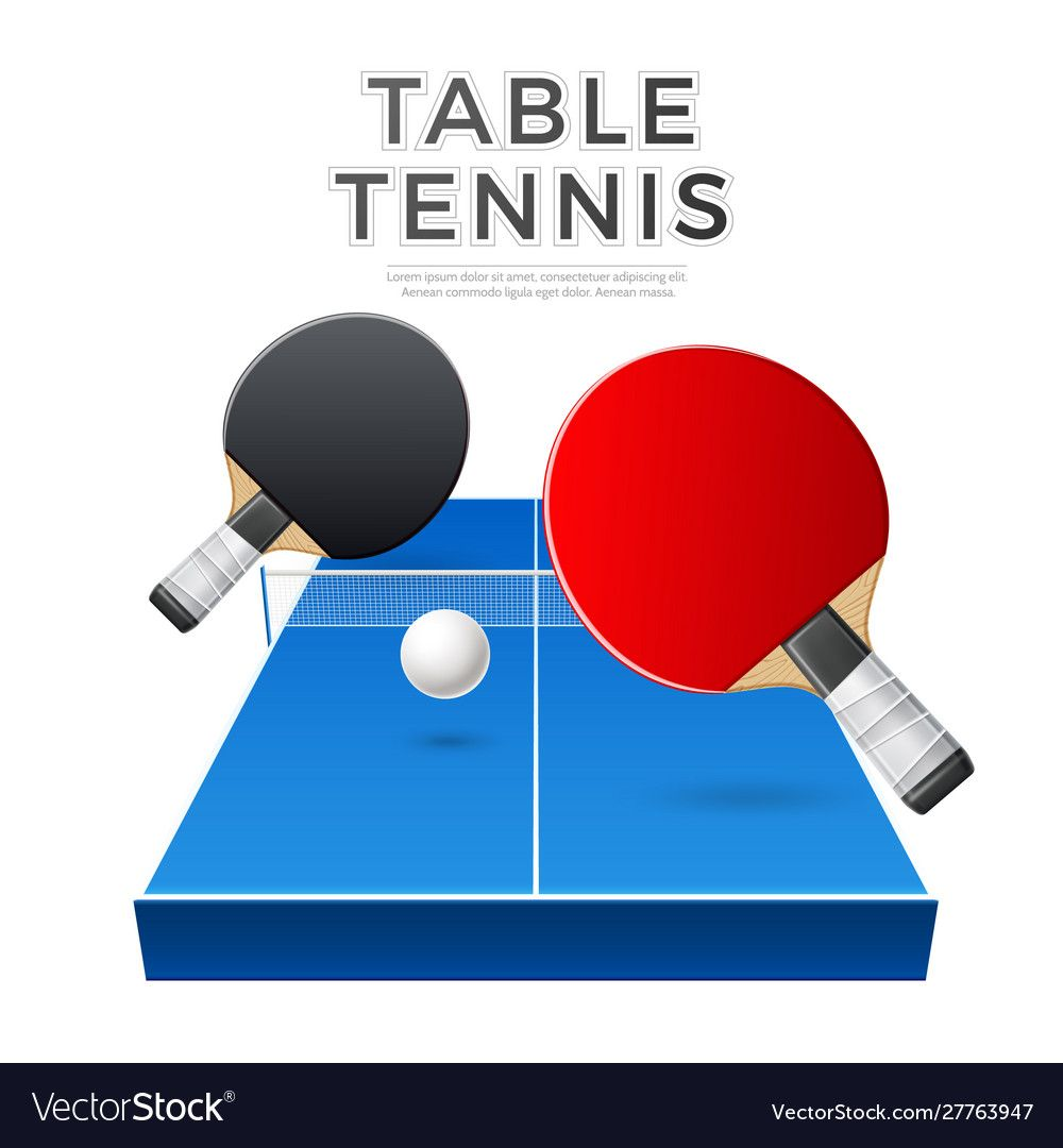 Table Tennis Rockets Ball Ping Pong Vector Image On Vectorstock Table Tennis Ping Pong Tennis