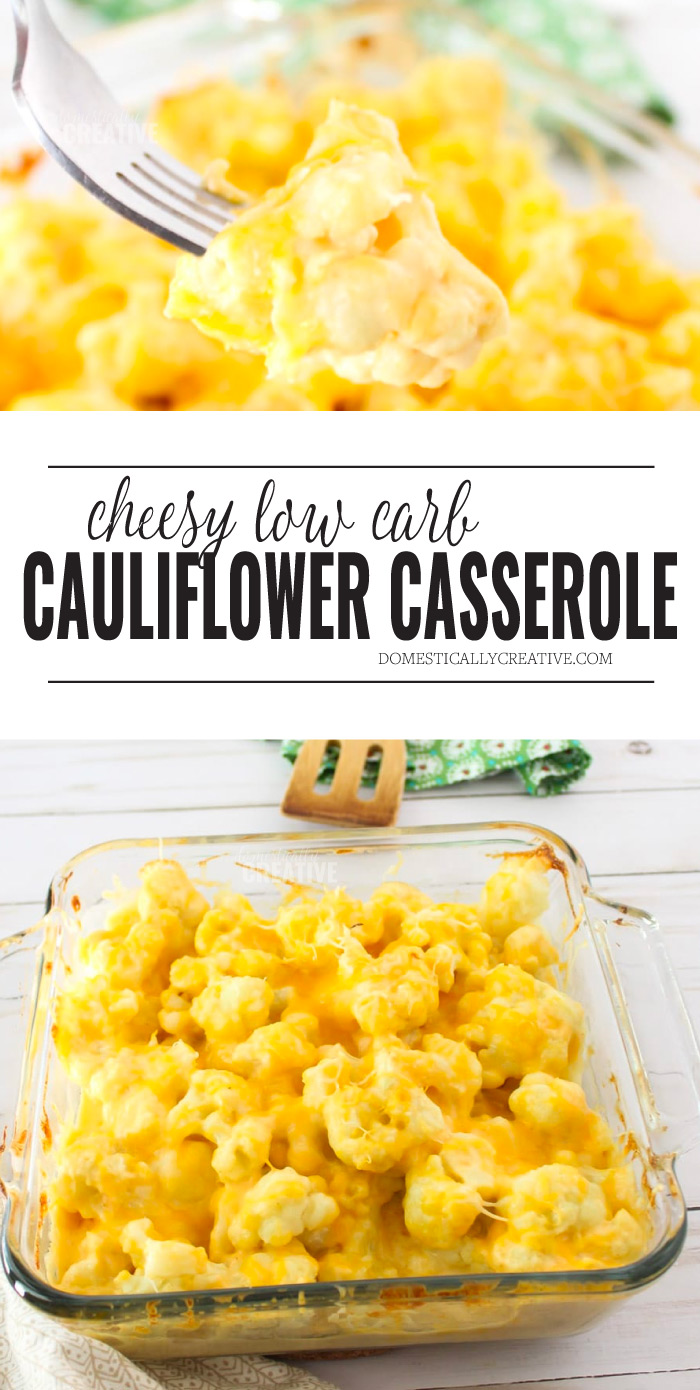 Cheesy Cauliflower Casserole | Low-Carb Cauliflower Mac and Cheese