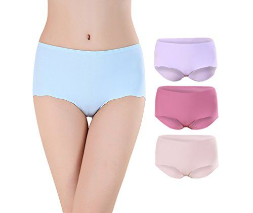 e695c7f7e AI YUE AIYUE Women s Invisible Seamless Hipster Underwear High Waist Brief  with no Panty Line or no Show