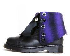 NEW Dr. Martens TRIUMPH PURPLE PLAID 1914 Boots UK 9 US 11