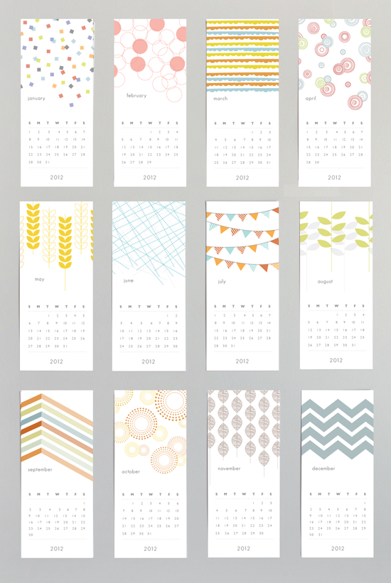 Typography Wall Calendar : Patterned wall calendar graphics design we love
