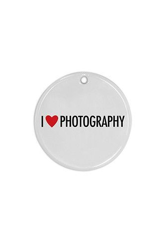 PFCIORN002 Circular I Love Photography Ornament