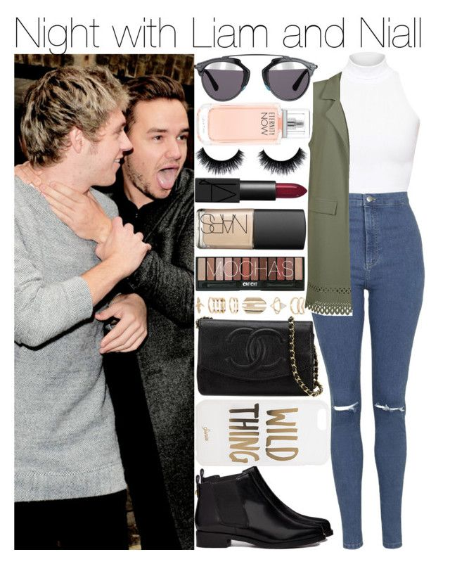 """""""Night with Liam and Niall"""" by niallharryzaynliamlouismylife ❤ liked on Polyvore featuring American Apparel, Topshop, ASOS, Cameo Rose, Chanel, Sonix, Christian Dior, NARS Cosmetics, Accessorize and Calvin Klein"""